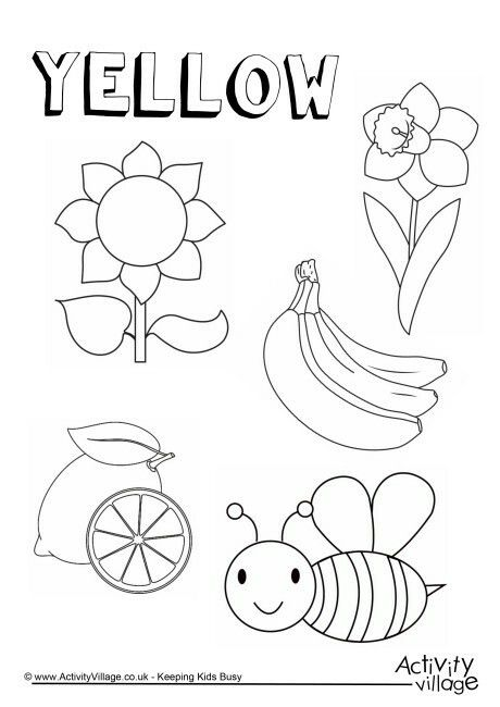 Yellow Color Worksheets For Preschool Color Worksheets Preschool Coloring Pages