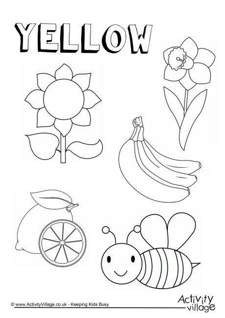 yellow | Kinder & 1st Kids | Pinterest | Autismo, Colorear y Dibujo