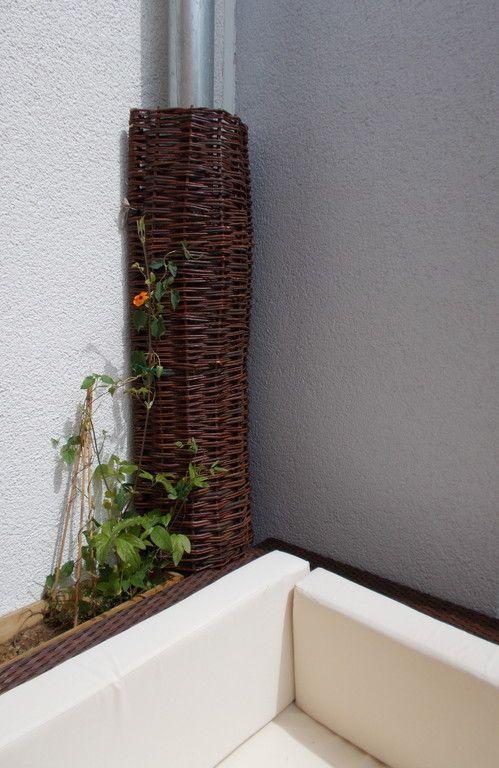 blende f r das regenfallrohr kletterhilfe aus weide blumiges der anfang pinterest. Black Bedroom Furniture Sets. Home Design Ideas