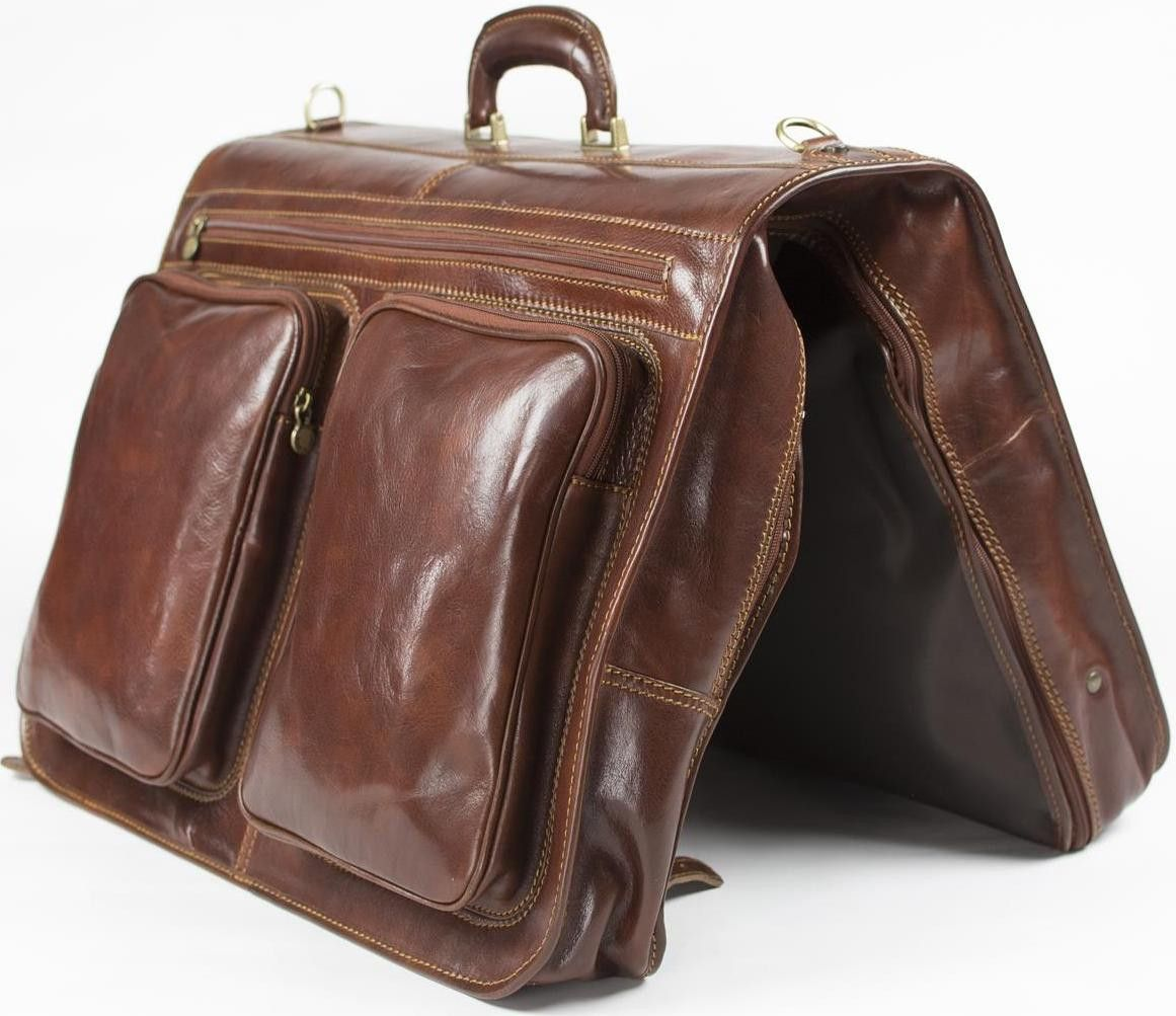 Genuine Italian Leather Cabin Suit And Garment Bag | Leather