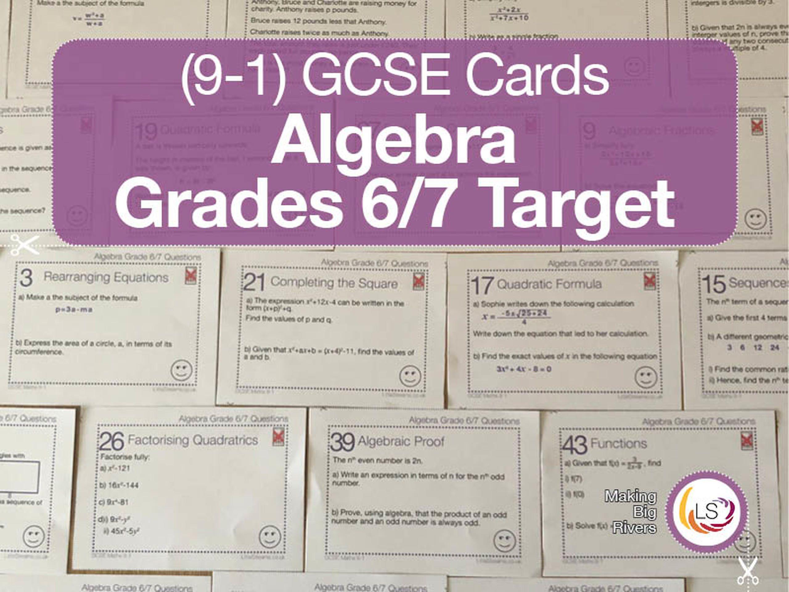 Gcse Algebra In