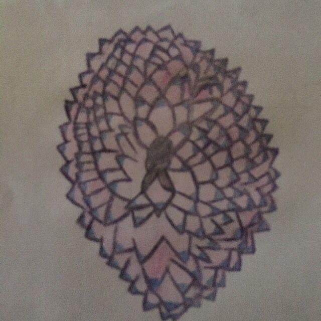 Random flower drawing
