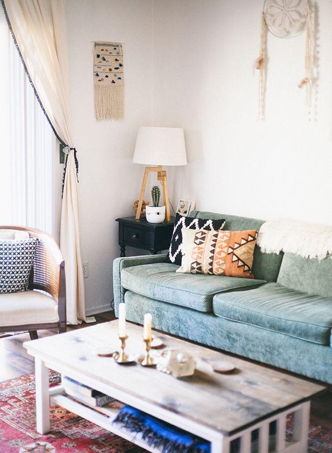 Mid Century Boho Home Tour Bohemian Living Room Decor Boho
