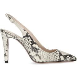 Photo of Pumps with snake pattern and buckle (36,37,38,39,40,41,42) Black Label