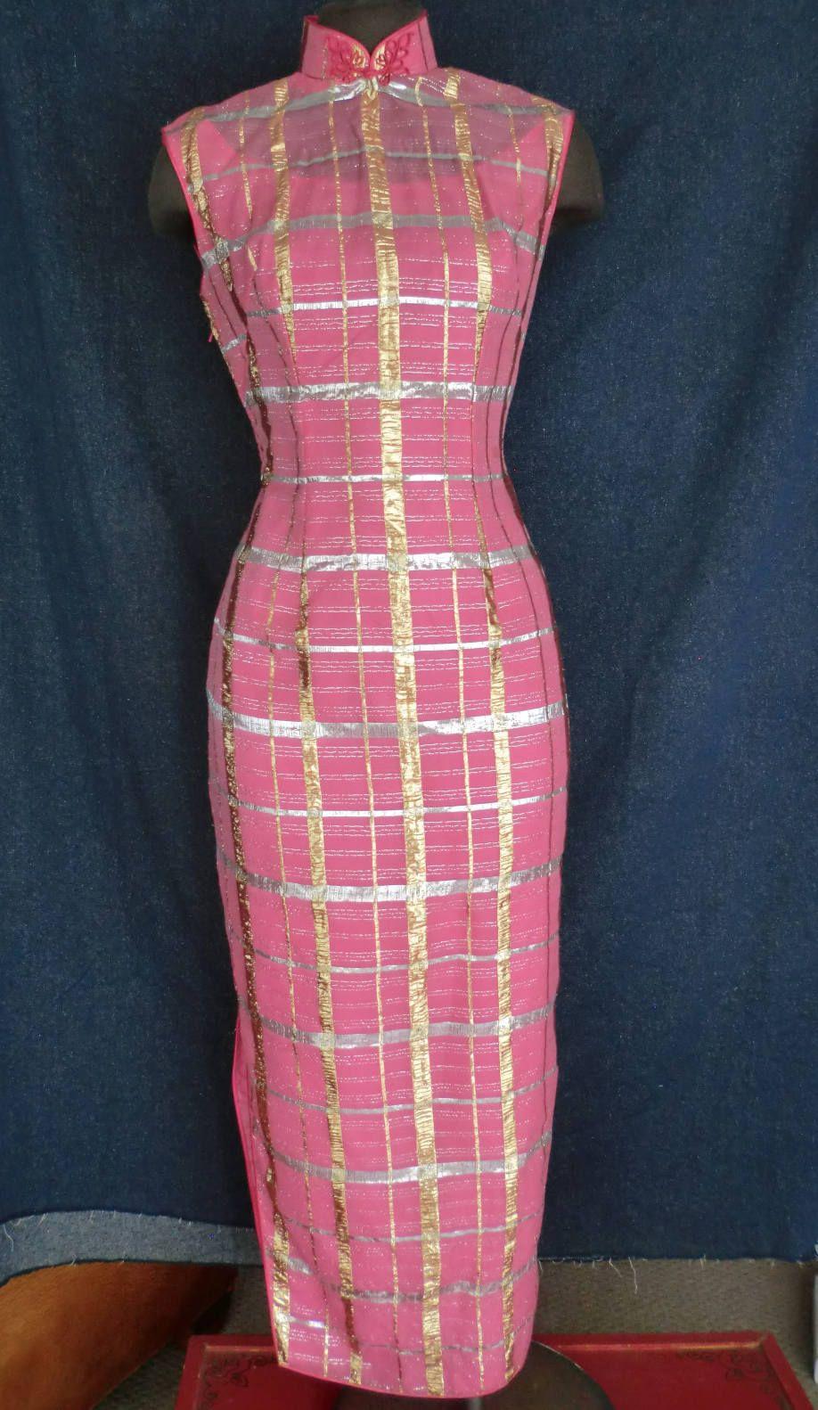 Jahrgang 1960 Chinesisch Cheongsam Kleid Größe M   Vintage dresses ...