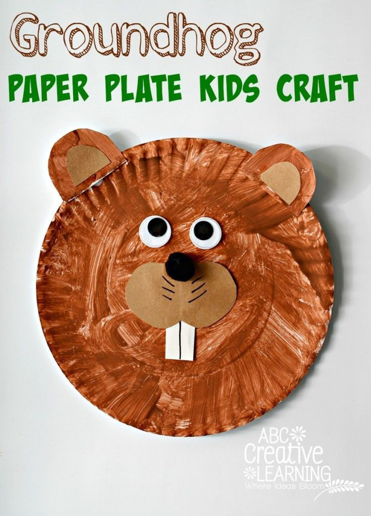 Easy Groundhog Paper Plate Kids Craft Education To The Core