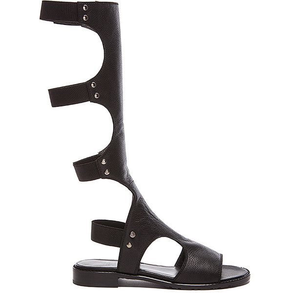 Stuart Weitzman Back view Gladiator Sandal Shoes ($348) ❤ liked on Polyvore featuring shoes, sandals, velcro sandals, rubber sole shoes, stuart weitzman, velcro shoes y velcro strap shoes