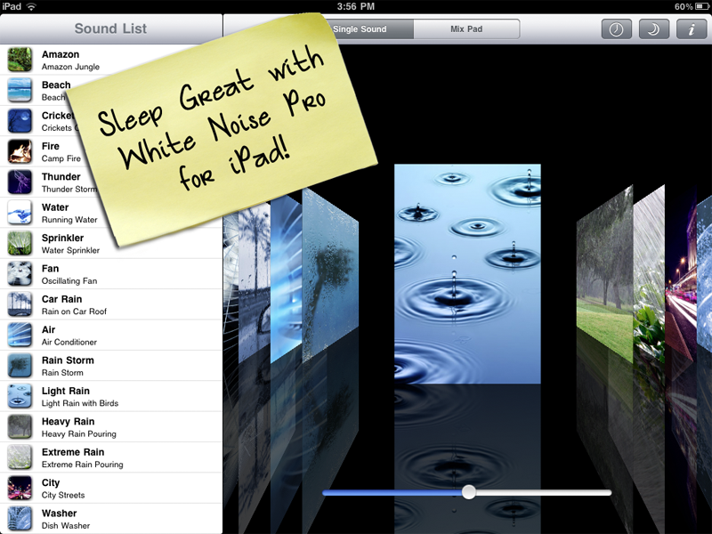 Relaxing Mobile App Leads To Great Night Of Sleep White