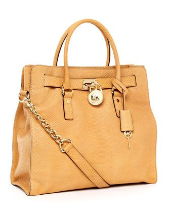 MICHAEL Michael Kors  Hamilton Large Python-Embossed North South Tote. Yes Pleeeease.