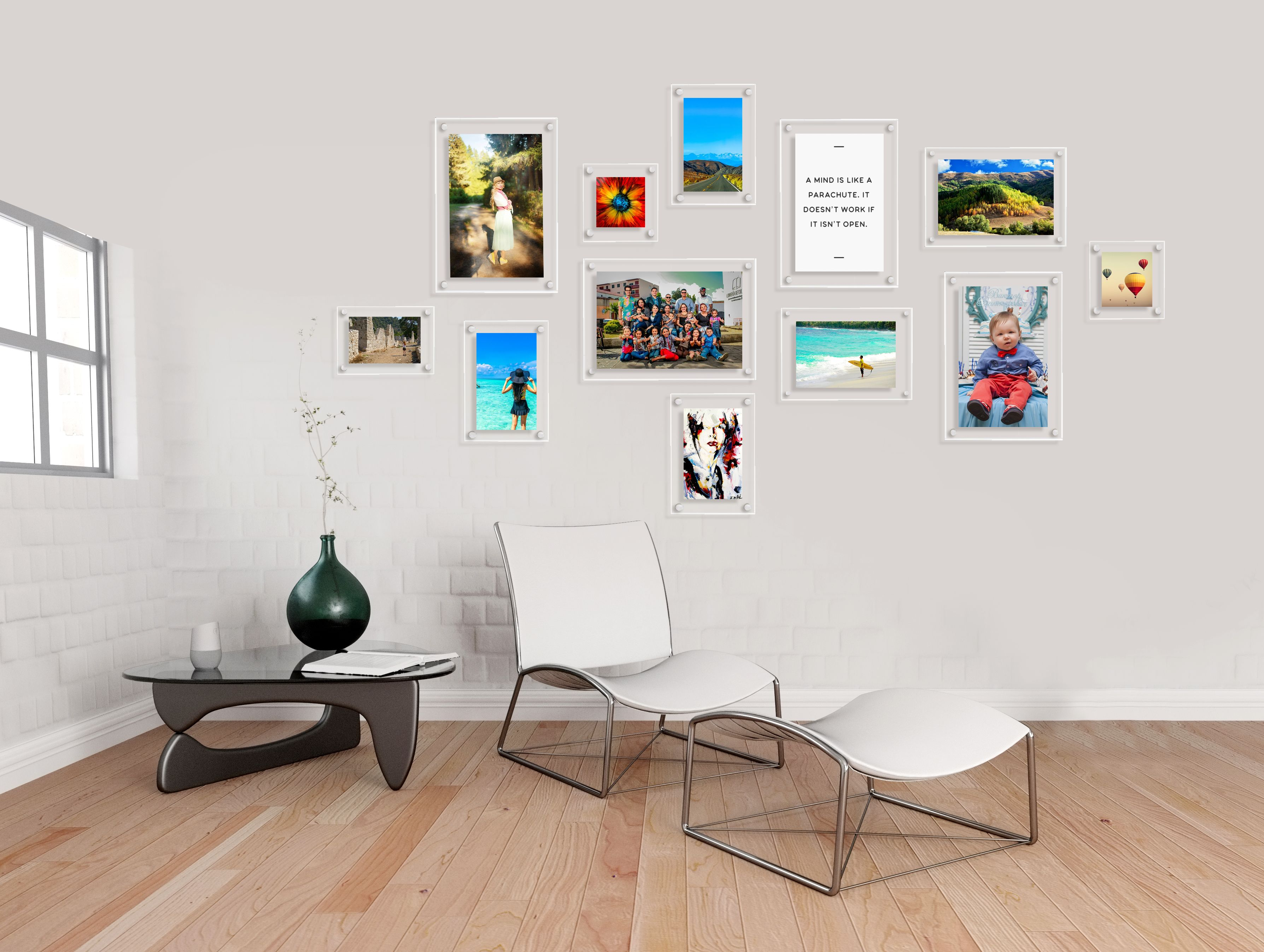 Stunning gallery wall display using ecrylic photo frames for a stunning gallery wall display using ecrylic photo frames for a modern floating feel buy jeuxipadfo Images