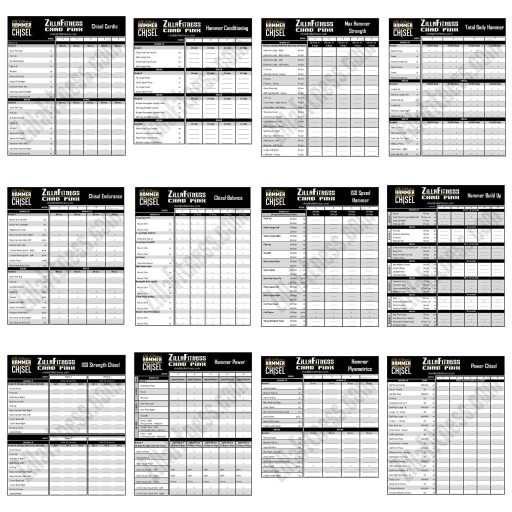 The Master S Hammer And Chisel Workout Schedule
