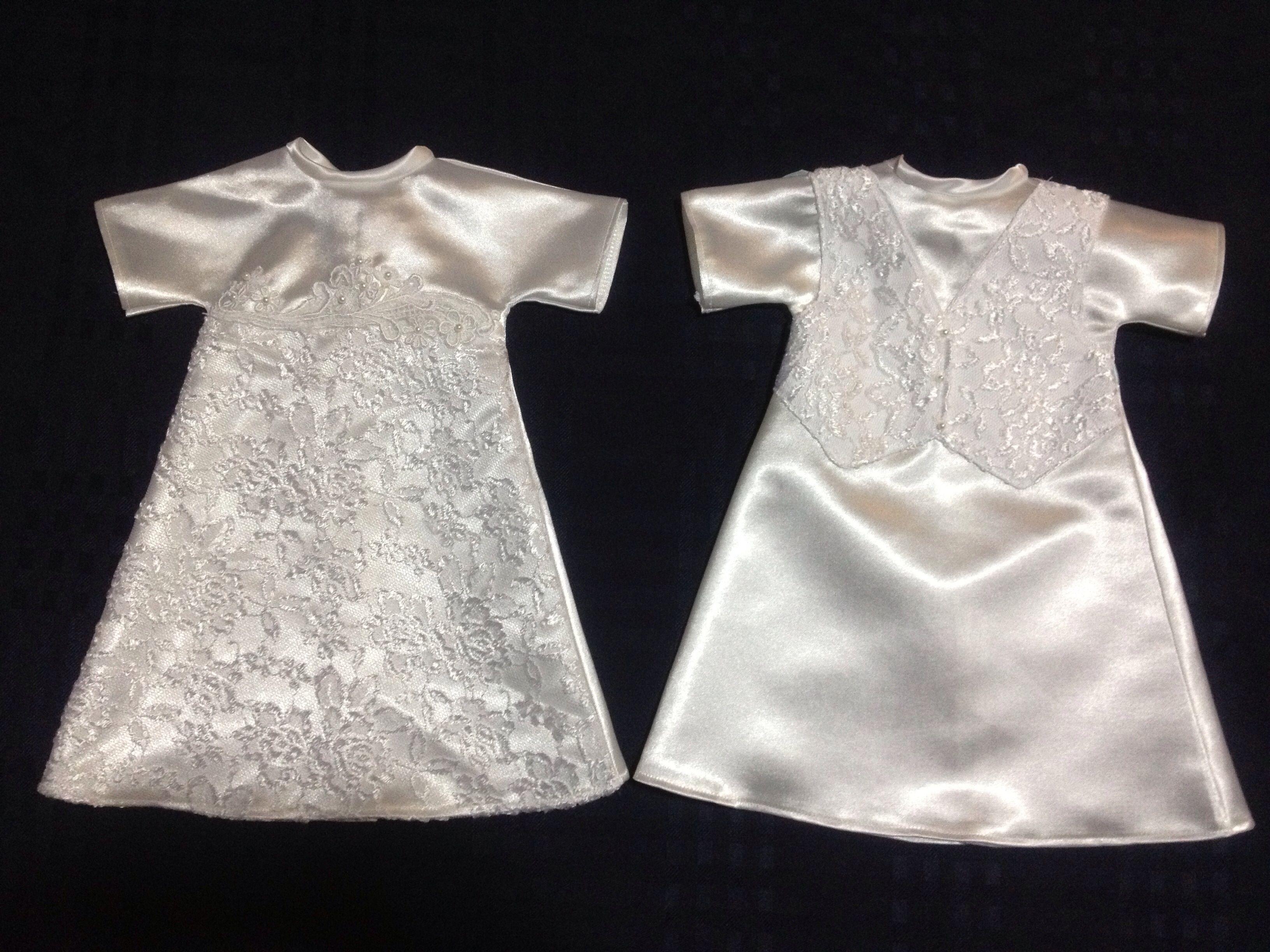 Boy girl matching twin pair, medium angel gown garment, NICU Helping ...