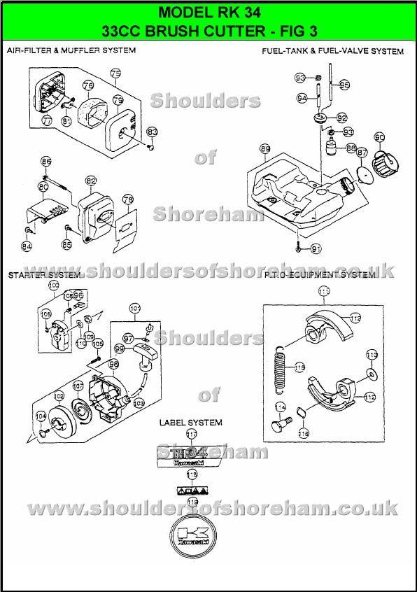 rk34 ryobi trimmer brushcutter pinterest diagram rh pinterest com Ryobi Fuel Line Routing Diagram Ryobi Fuel Line Routing Diagram
