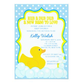 200 Rubber Duckie Baby Shower Invitations Announcement Cards