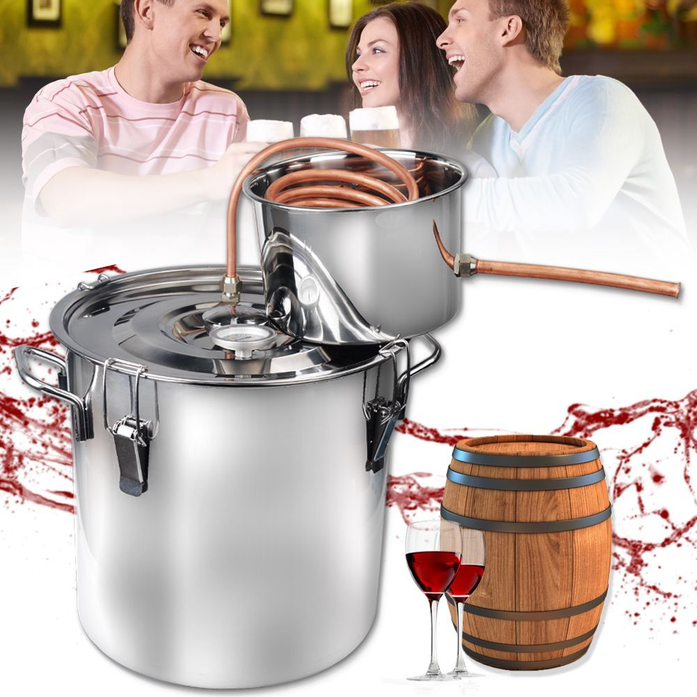 The equipment can be used for distilling fruit wine