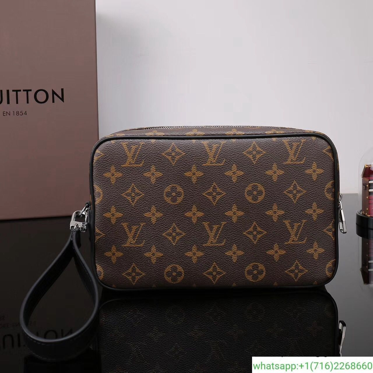 e23ac3bfedb00 Louis Vuitton Monogram Macassar Canvas Kasai Clutch M42838  110 ...