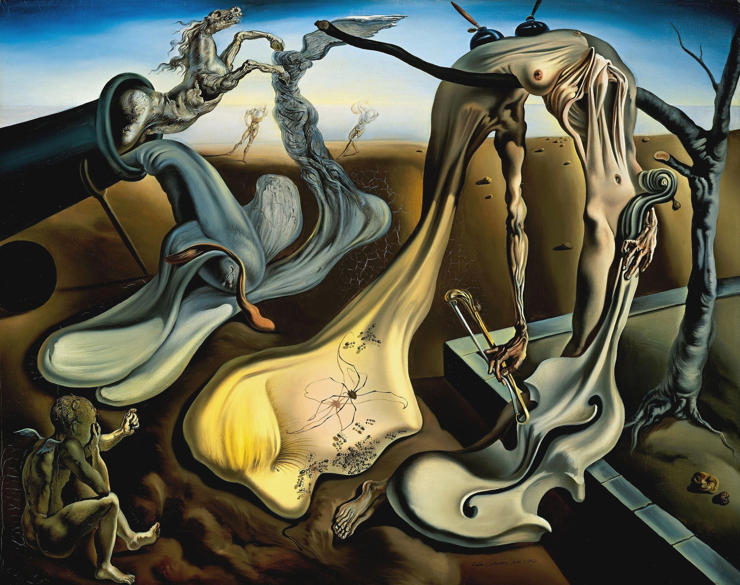 The Spider Of The Evening By Salvador Dali Painting Surrealism Picture Salvador Dali Salvador Dali Evening Sp Salvador Dali Paintings Dali Paintings Dali Art