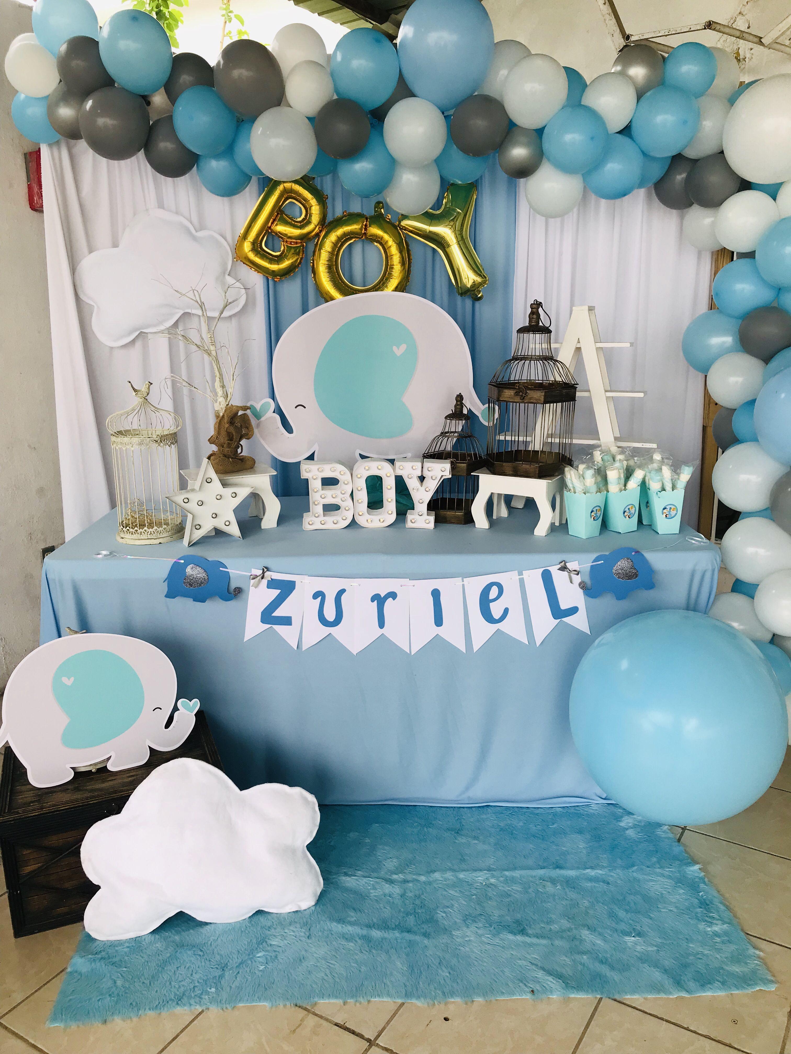 Baby Shower Elefantitos Its A Boy Mesa Principal