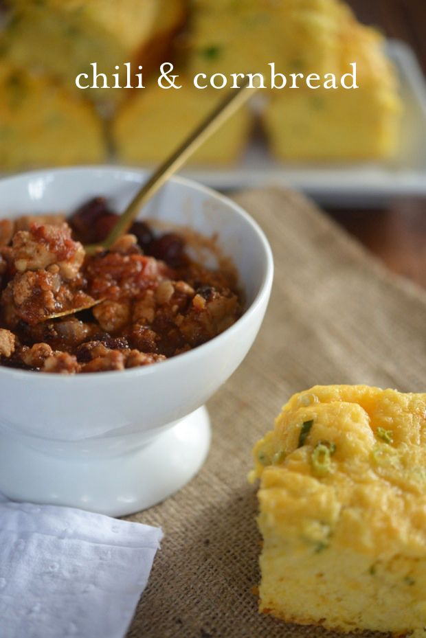 Chili and Corn Bread.. @Danny Gone does this remind you of last weekend?
