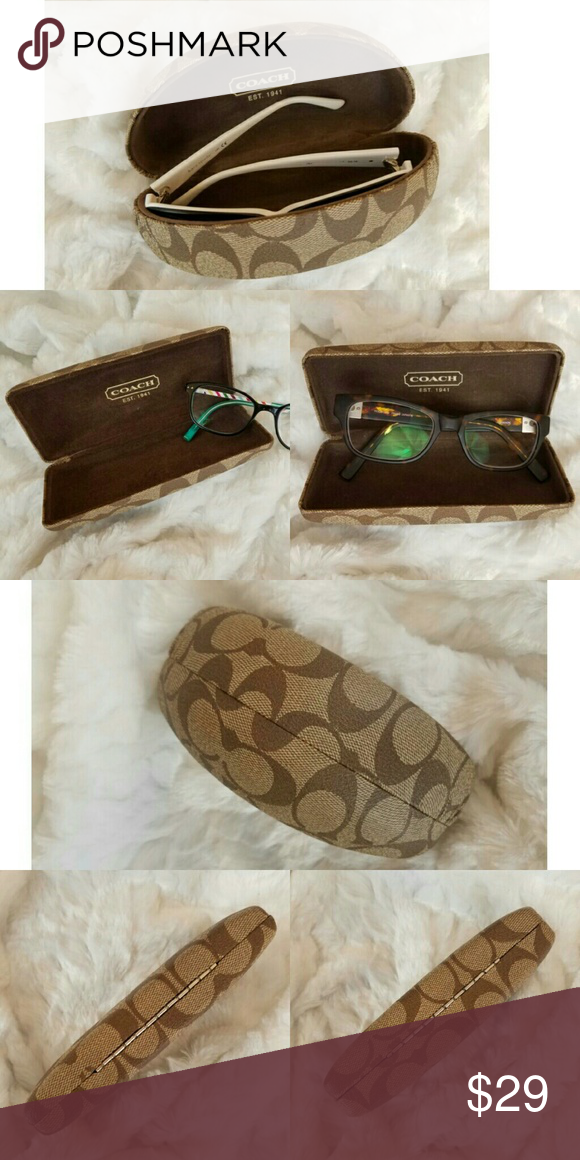 3 Coach Sunglass Cases All Different Sizes 3 different size Coach brand cases NO GLASSES INCLUDED One large round case One medium case One slim case  I have separate listings if you would just like 1 Coach Accessories Sunglasses