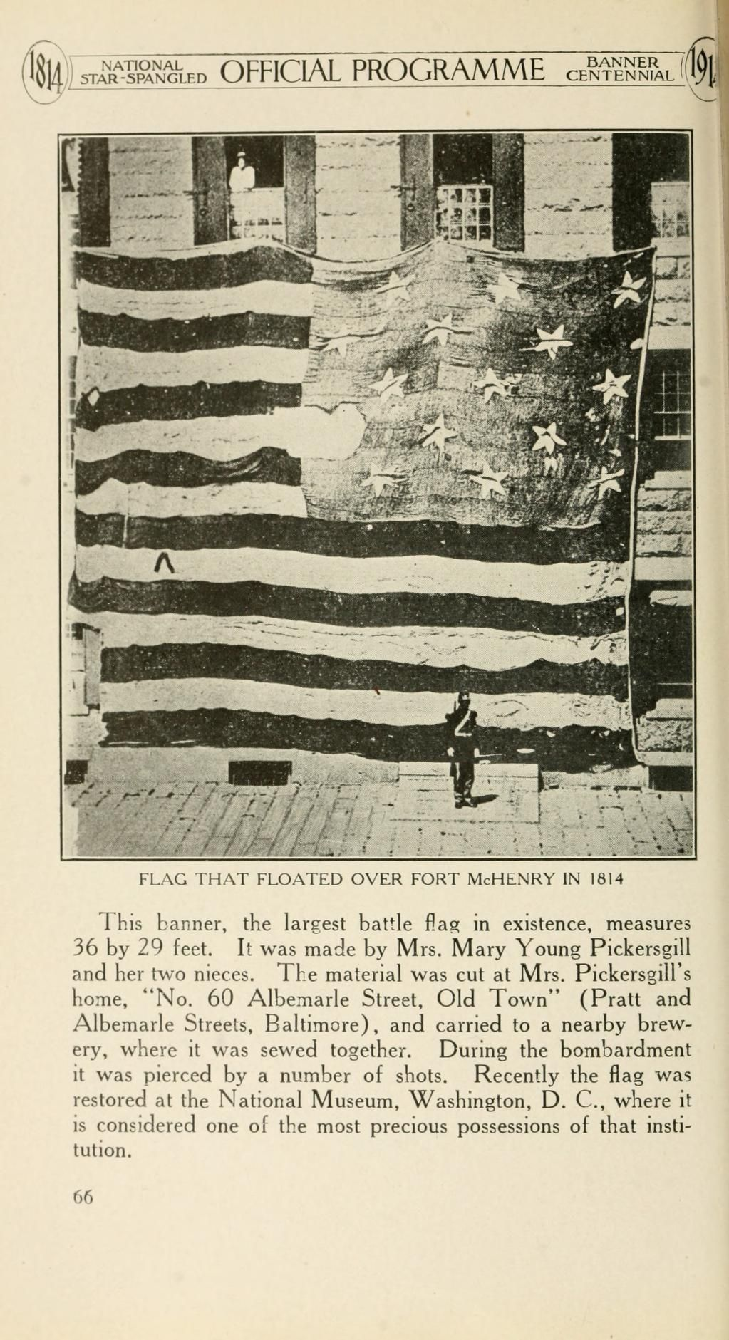 This American Flag Was Flown Over Fort Mchenry In Baltimore Maryland In 1814 The Photograph Was Taken Star Spangled Banner History Pictures Civil War Flags