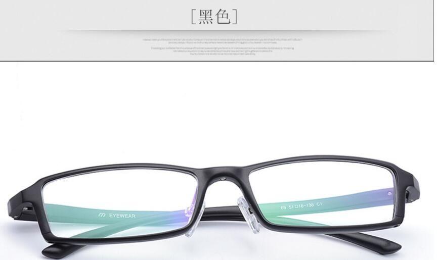 40dbc7508b8aa Ultra - light aviation aluminum - magnesium alloy myopia glasses black frame  square glasses frames men