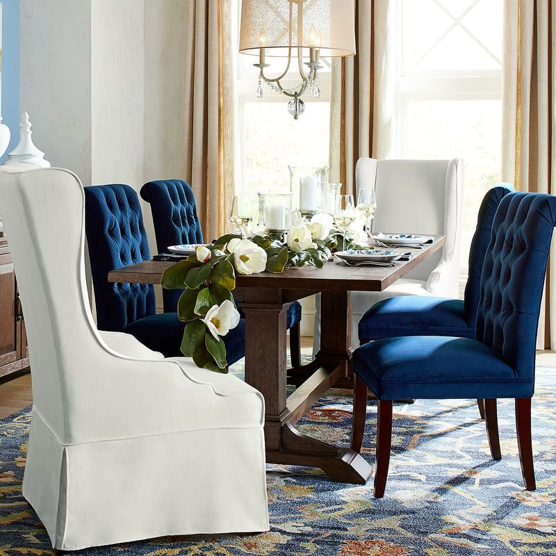 Audrey Ink Blue Dining Chair Audrey Ink