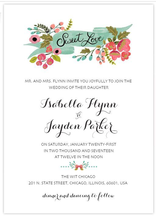 Create Your Own Wedding Invitations With These Free Templates Free - Wedding invitation templates: make your own wedding invitations free templates