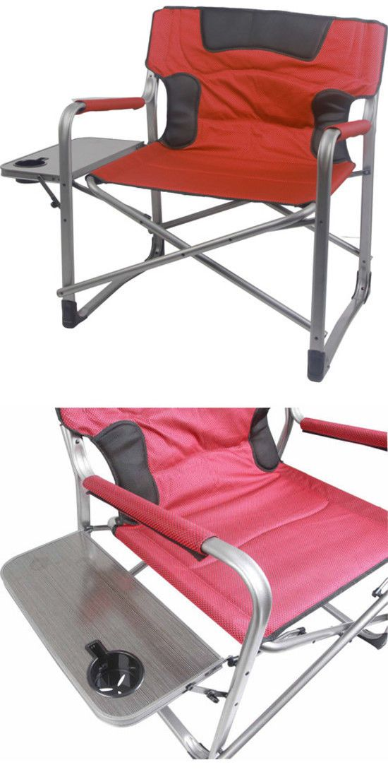 Camping Furniture 16038: Xxl Outdoor Camping Chair With Side Table Tall  Director Heavy Duty Fordable