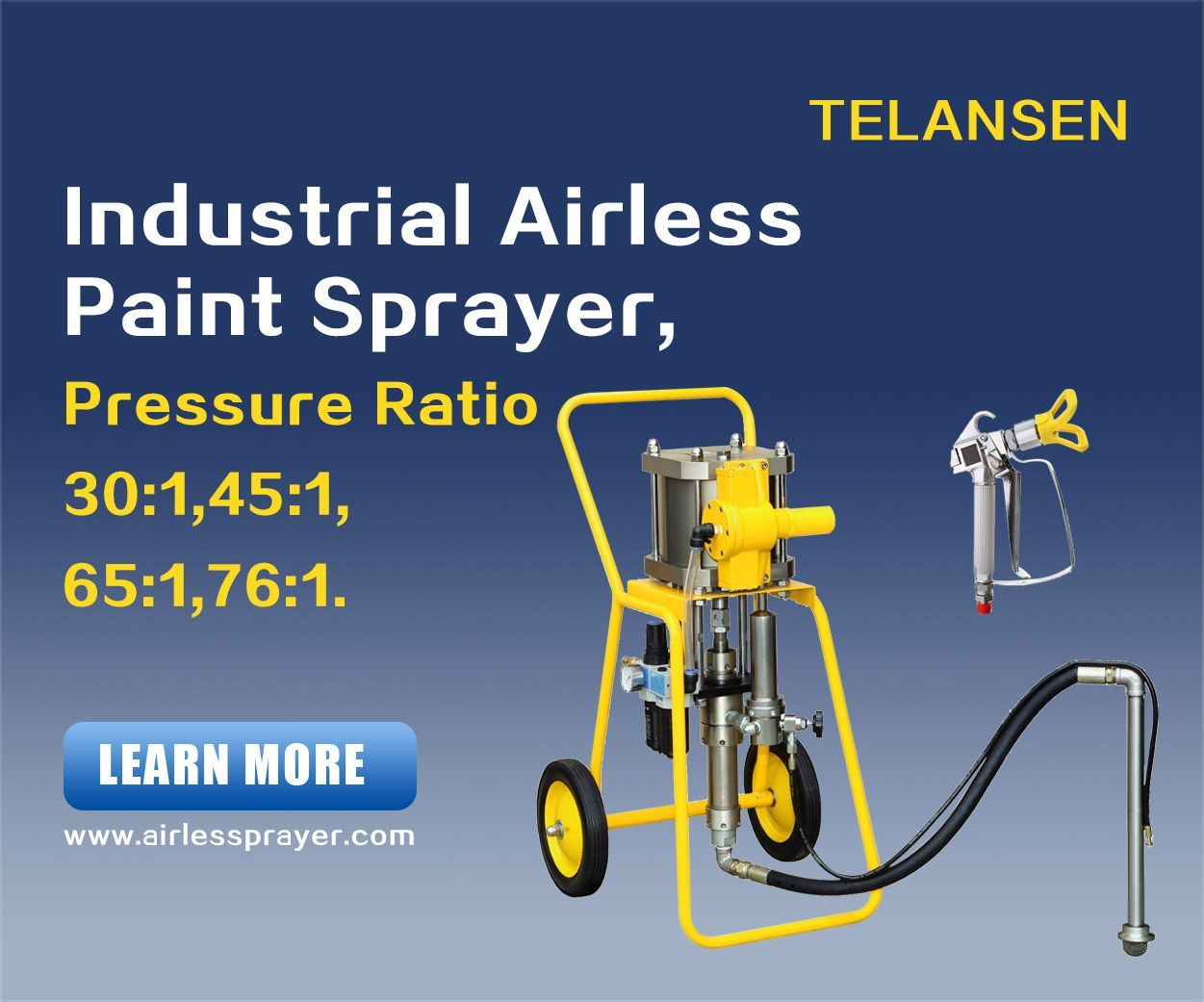 Hydraulic Airless Painting Equipment Driven By Electric And Gasoline Hydraulic Sprayers Paint Sprayer