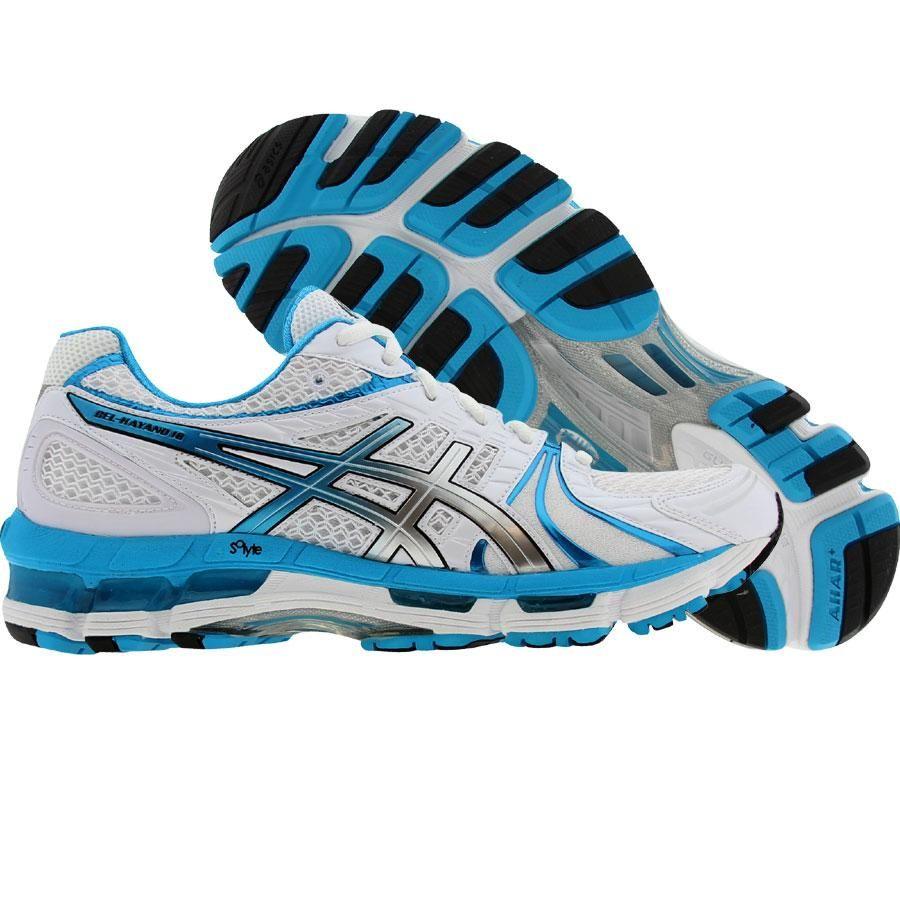 separation shoes 0c6b3 40a6a Asics Womens Gel-Kayano 18 (white   island blue   black) T250N-0161 -   149.99
