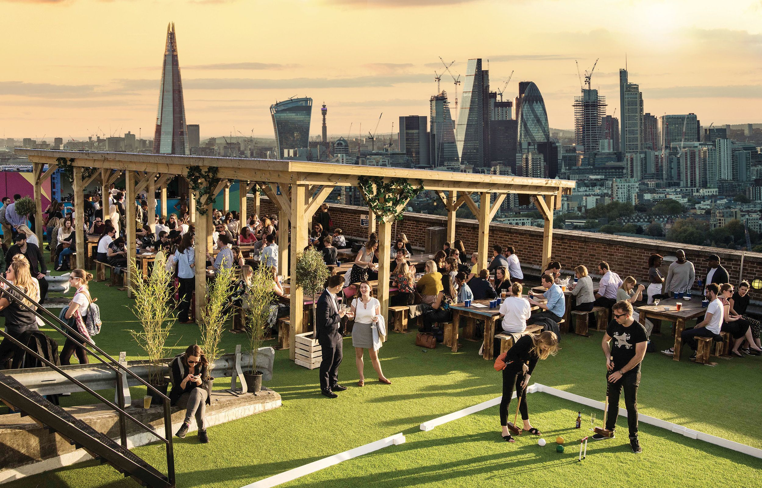 Skylight London Rooftop Bar At Tobacco Dock London Rooftop Bar Best Rooftop Bars London Rooftops