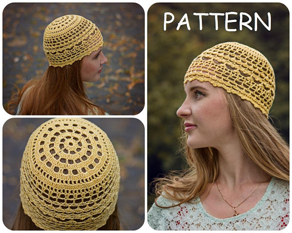 Summer Crochet Beanie Pattern - DIY Crochet Hat For Women - Womens Hat  Pattern - DIY Lace Crochet Ha 43de60ad7d2