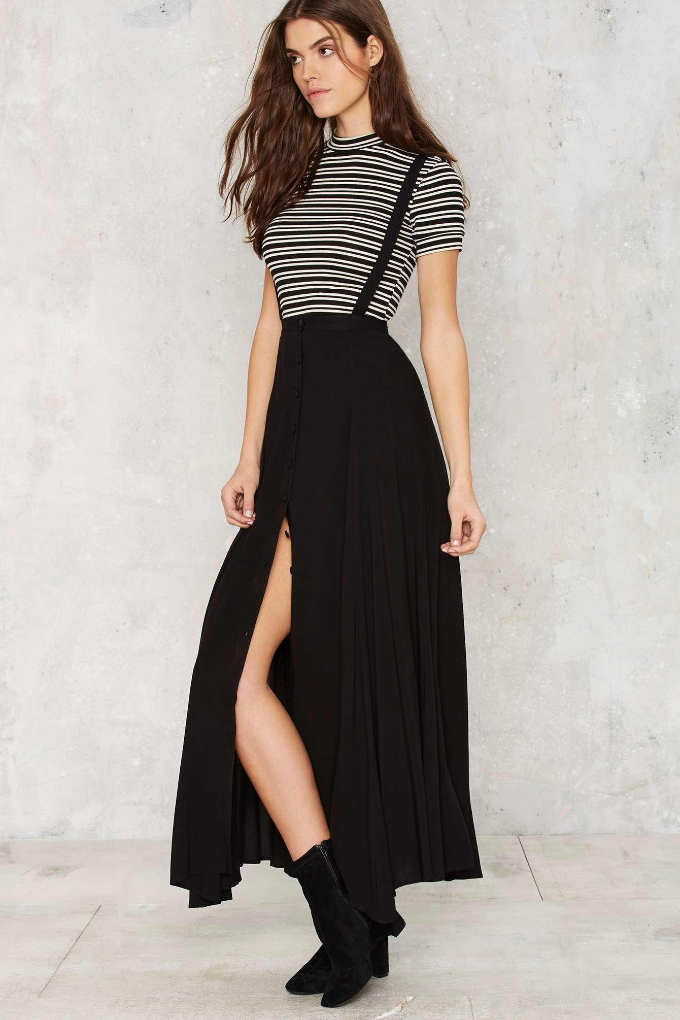 e77f40bcbbcb4 Suspender Your Disbelief Maxi Skirt