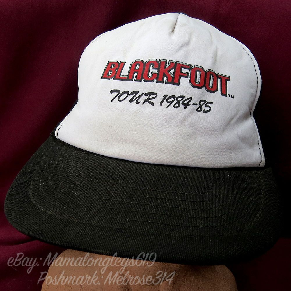 RARE Vintage Blackfoot Tour 1984-85 Mesh Snapback Trucker Hat Cap Southern Rock #Unbranded #TruckerHat