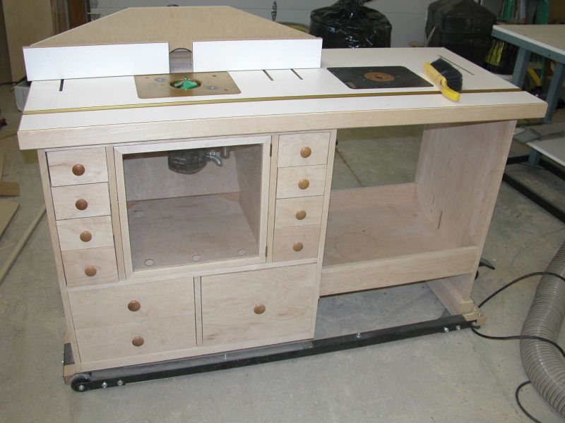 Router Table Front View Tableproject Ideaswoodworking