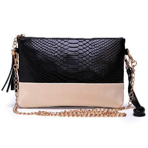 d8dd73f36f Trendy Color Block and Tassels Design Women s Clutch Bags