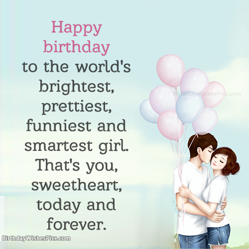 Romantic Happy Birthday Wishes For Girlfriend With Images Birthday Quotes For Girlfriend Birthday Quotes For Her Birthday Wishes For Girlfriend