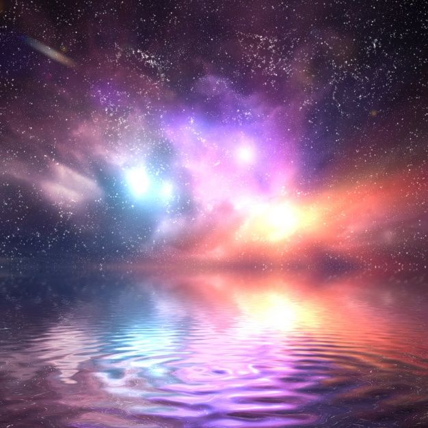 Download Colorful Universe Reflected In Water For Free Abstract Water Reflections Fantasy Background