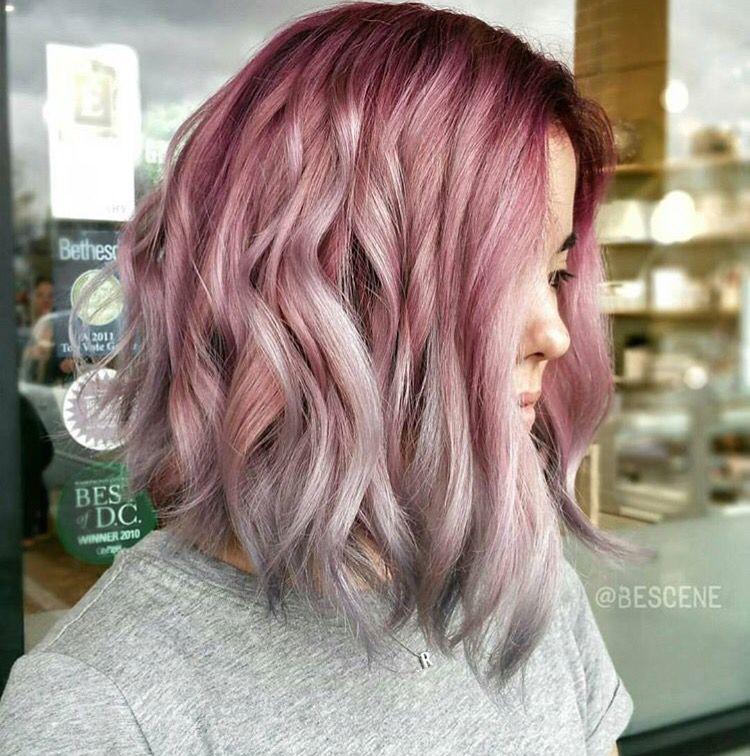 Chrome Rose Look Pinterest Hair Hair Styles And Balayage