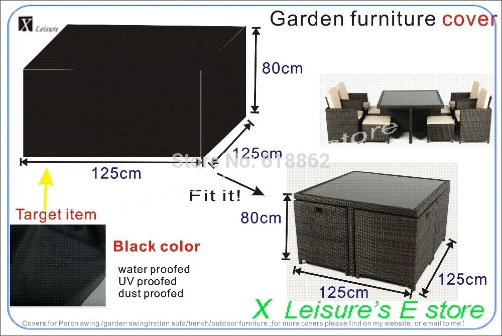 rattan garden furniture covers. Garden Rattan Furniture Set Cover,125x125x80 Cm Cover,water-proofed Cover Covers T
