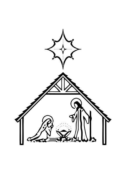 Bilde Fargelegge Jesus Fdsel Barn Lrer Om Jesus Fdsel Mens De