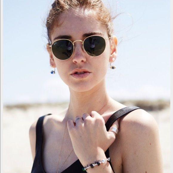 Ray Ban Round Metal Glasses Brand New Never Worn Size 50 Ray Ban Accessories Glasses Round Ray Bans Fashion Ray Ban Round Sunglasses