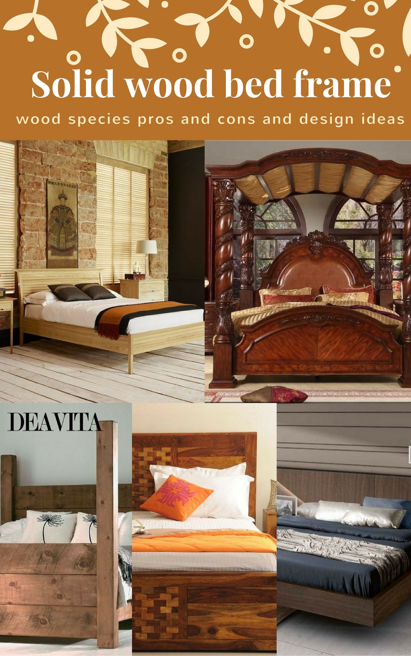 solid wood bed frame offers many advantages to any bedroom interior