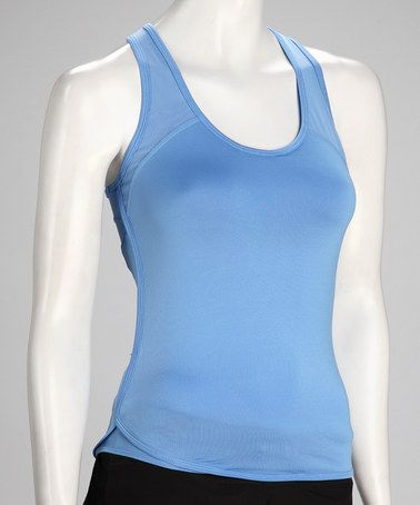 Take a look at this Dusty Blue Support Racerback Tank by Colosseum on #zulily today!