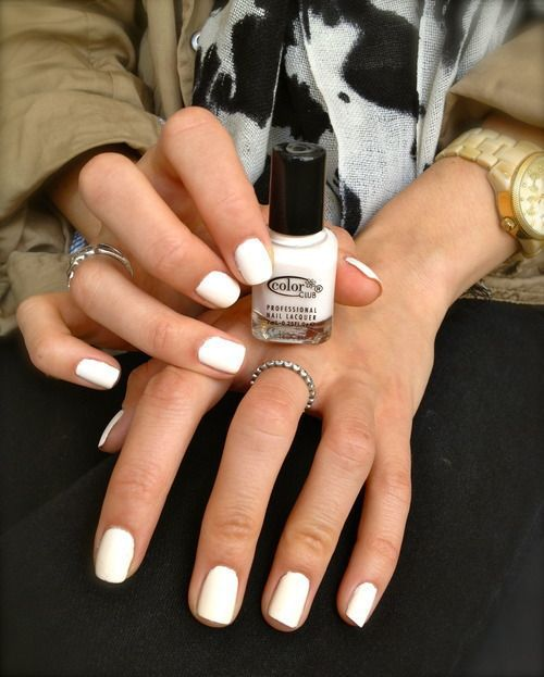 Nail Inspo White Nails Are Perfect For Tanned Skin White Nails