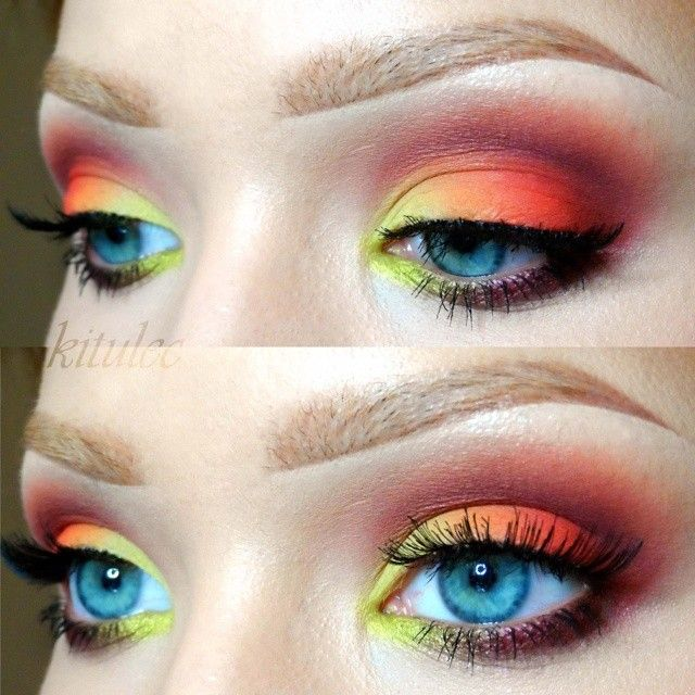 Sunset eye look