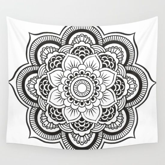 Best mandala wall tapestries on Society6. Mandala - boho - indian - hippie - kaleidoscope tapestries - wall hangings.