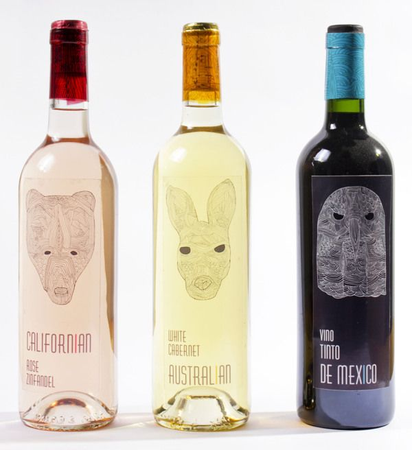 / WINE BOTTLE PACKAGING / by / Manon Langlois  /, via Behance