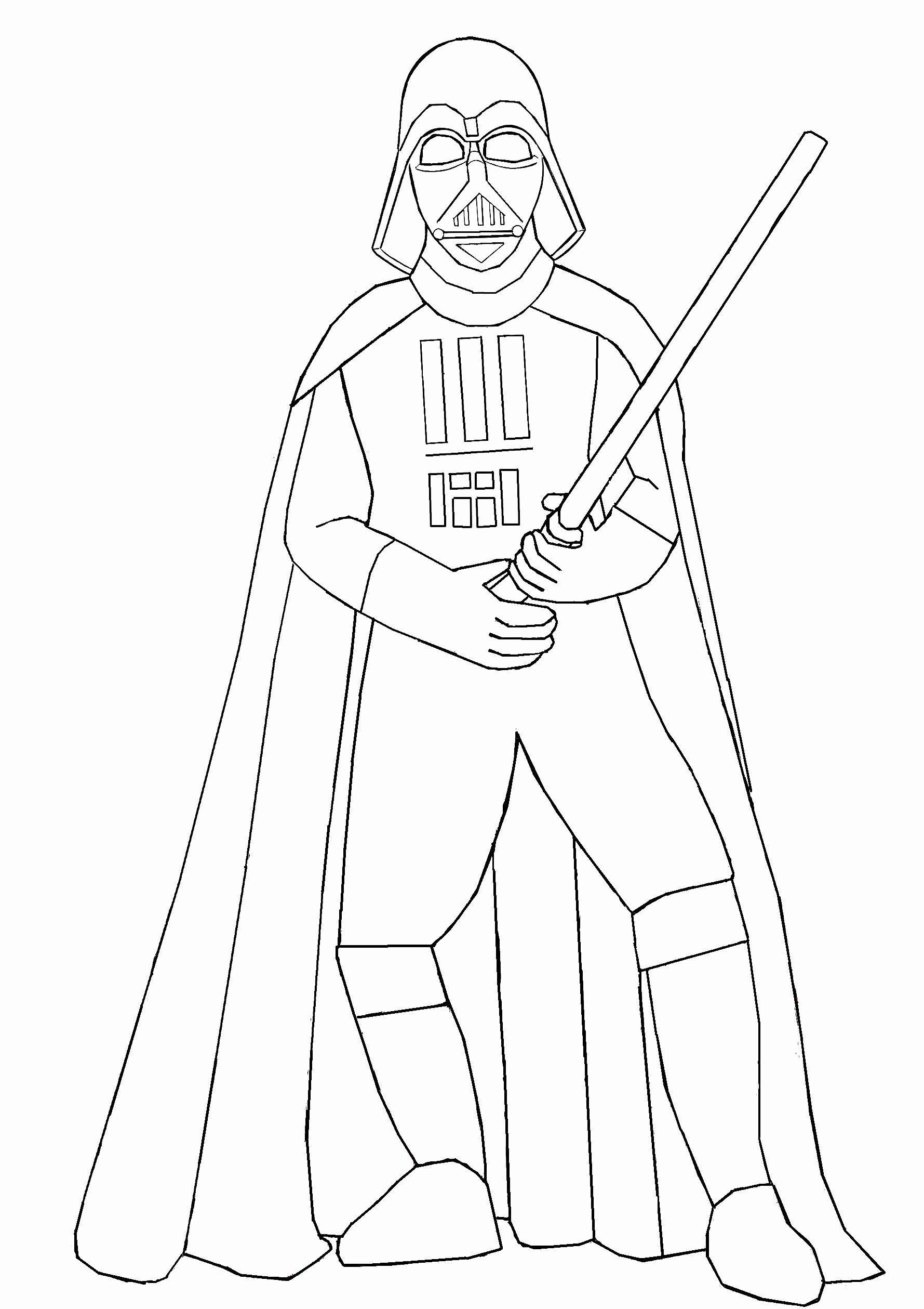 Darth Vader Coloring Page Lovely Darth Vader Holding Lightsaber Coloring Page Free In 2020 Star Wars Coloring Book Coloring Pages Darth Vader